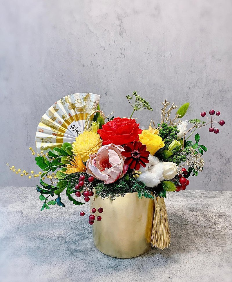 New Year Flower Gifts Good Luck Potted Flowers Feng Shui Decorations New Year Gifts Blessing Gifts New Year Gifts