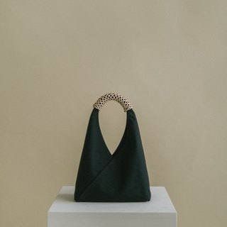 Woven Triangle Bag (S) (Jade Ink)