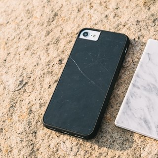Original Italian Black Marble Phone case with hard shell back case