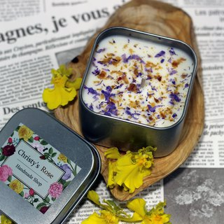 Limited Handmade Customized <Colorful Fragrance Soy Candle Travel Iron Box>