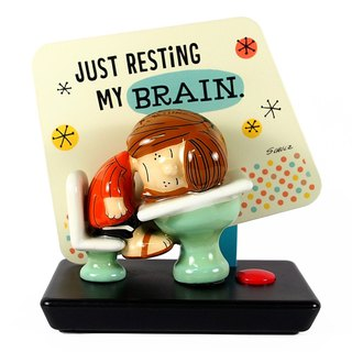 Snoopy sound-absorbing signboard - brain rest [Hallmark-Peanuts ornaments]