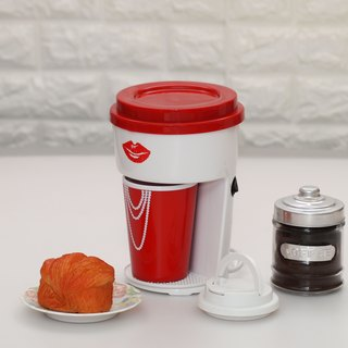 Minimalist One Cup Filter Coffee Maker Machine incl Travel PP Mug - Lady