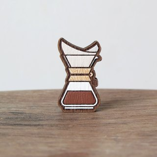 Wooden Brooch Coffee ~ Chemex