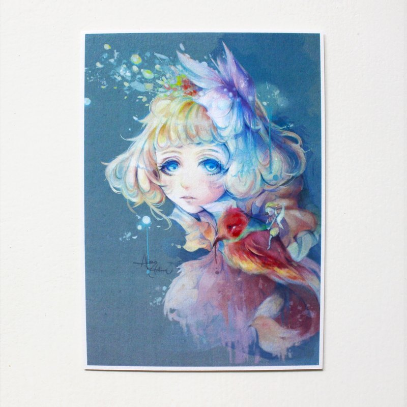 Alice Hobbey Fantasy Girl Series Double-sided Illustration Postcard