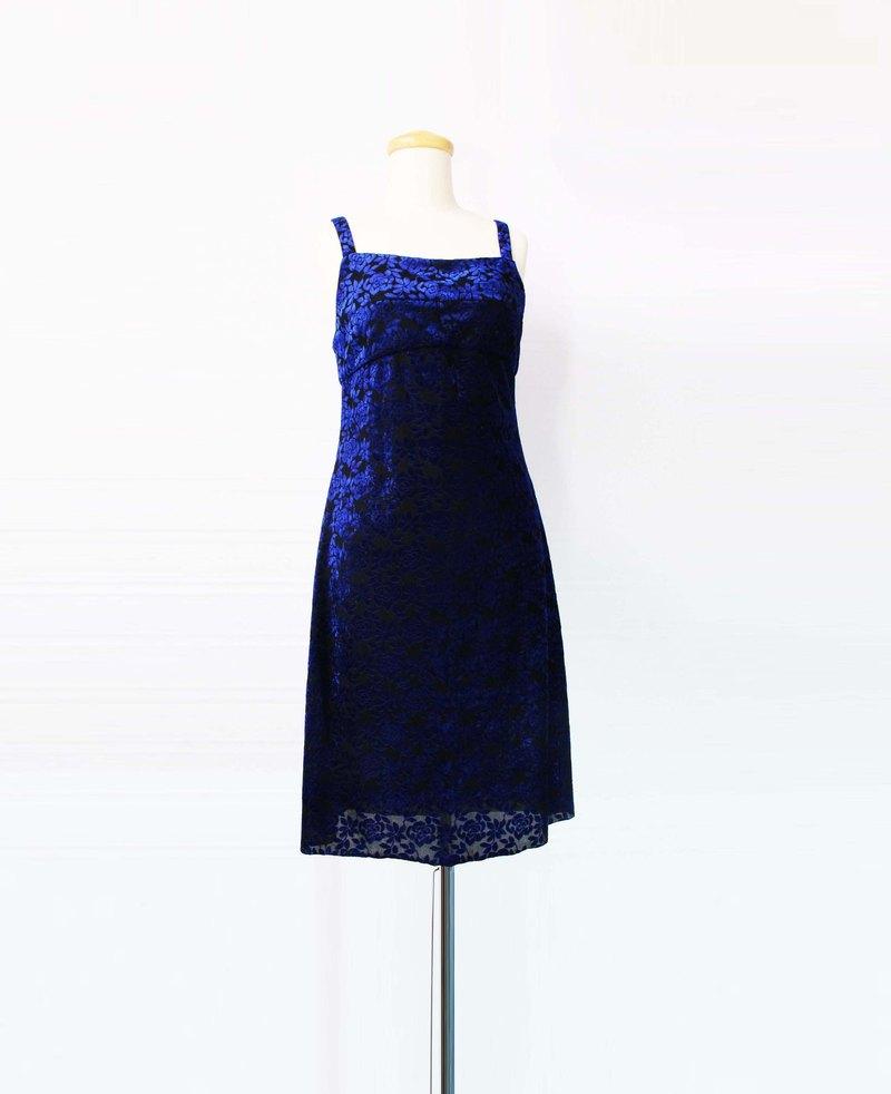 Wahr_藍紋背心洋裝