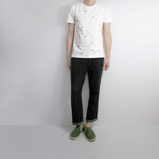 I. A. N Design day. Month. Stars. Mountains. The river male short-sleeved organic cotton Organic Cotton S / M / L