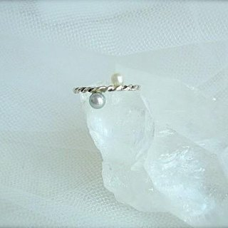 Pearl Ring (White & Gray) No. 13