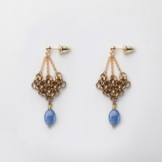 Gentle Strength / Brass/ Kyanite / Earrings