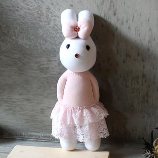 Handmade healing system - Romantic Lotte (pink yarn female rabbit) design models