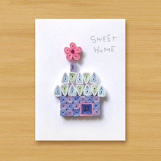 Hand-rolled paper card _ SWEET HOME_A ... mother card, father card
