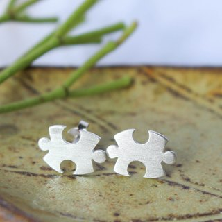 Jigsaw Puzzle - Silver Earrings / Sterling Silver / Earrings / 耳環 / 銀