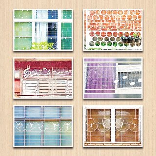 Old House Yan – Melody Window Grille Postcard Set