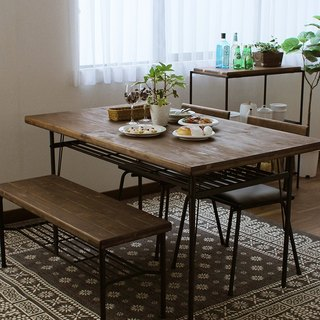 KeLT Nordic style ancient wood wind natural wood non-toxic furniture dining table