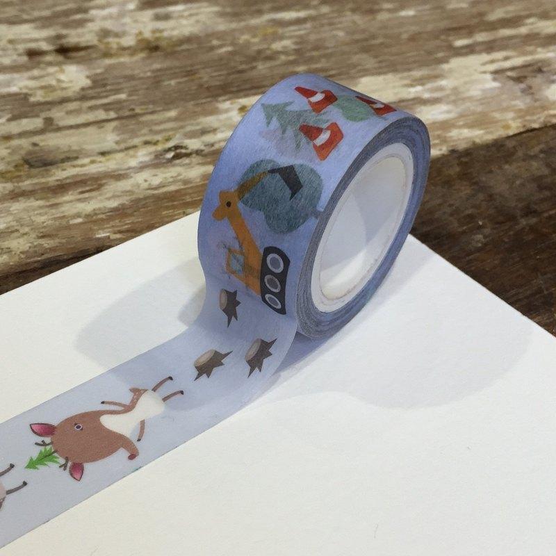 呆萌梅花鹿和紙膠帶