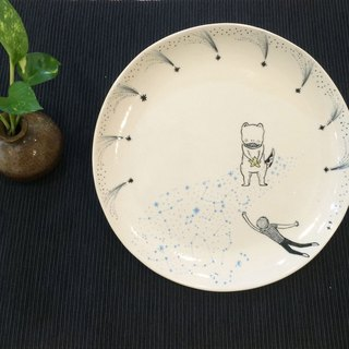 Star Party. Astronomy tableware {} disk Midsummer Night dreams of stardom