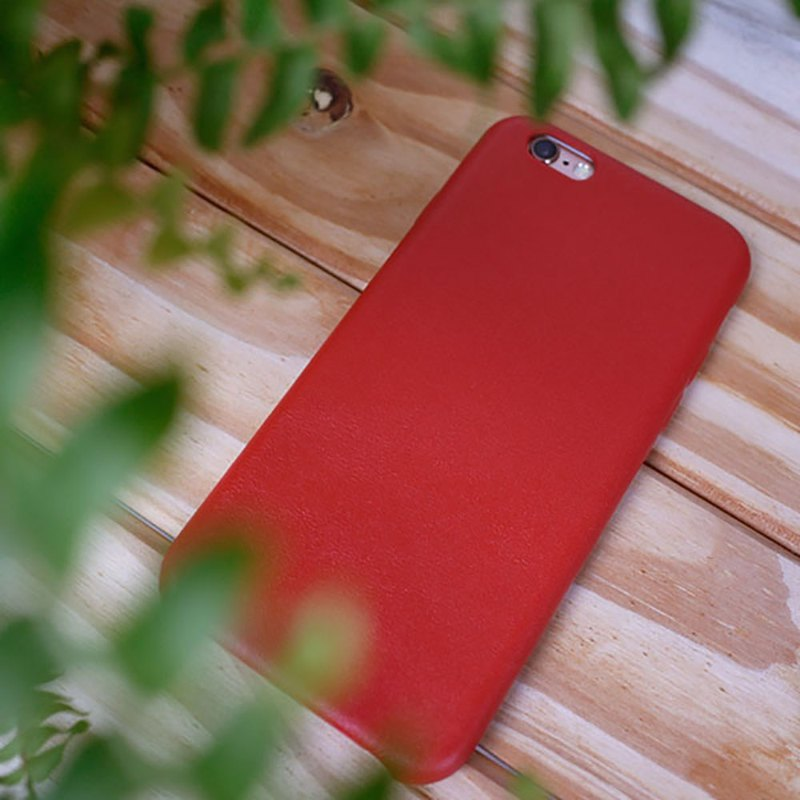AOORTI :: Apple iPhone 6s / 6s Plus Leather Handmade Leather Case / Case - Red
