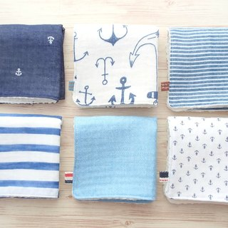 Baby Wash Cloths, Set of 6, Handkerhief, Nautical, Washcloth, Children, Unisex
