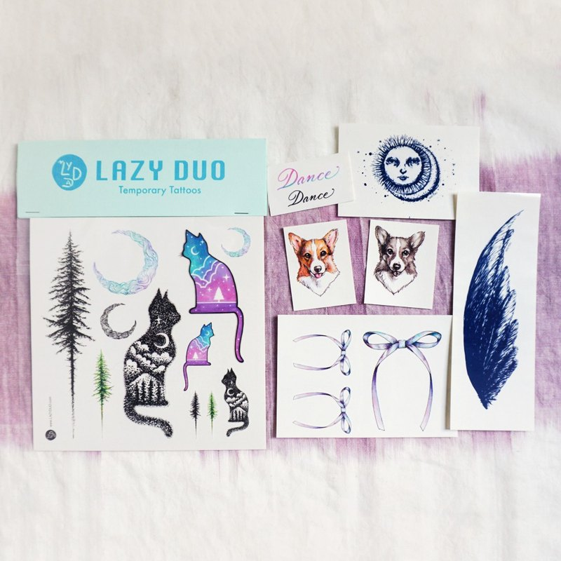 Goody Bag - LAZY DUO Temporary Tattoo Stickers · Set E ·