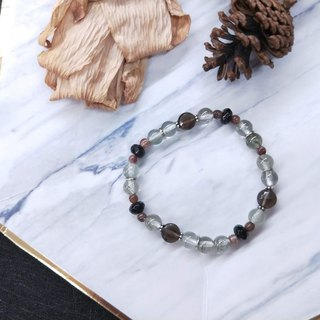 Bracelet. Green hair crystal*tea crystal*red hair crystal * pure silver septum wild bracelet