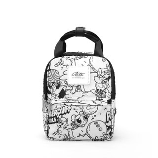 [RITE] Le Tour Series - Dual-use Mini Backpack - PPG Black and White