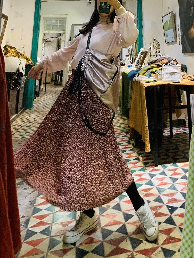 原創設計輕旅行時尚防水抽繩束口大容量多用途單肩雙肩斜挎包粉色