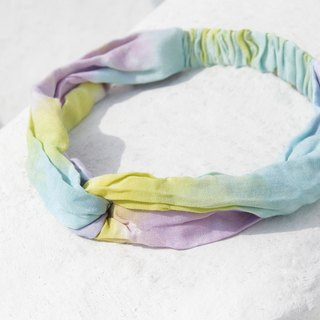 Christmas gifts Christmas market exchange gifts limited a handmade hair band / French hair band / double knot hair band / elastic hair band / handmade cotton hair band / gradient hair band - tropical fruit colorful gradient rainbow