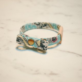 Small dogs and cats collar collar water blue Alice with double-sided reverse brand-name gift bell