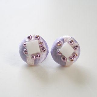 Czech beads titanium earrings