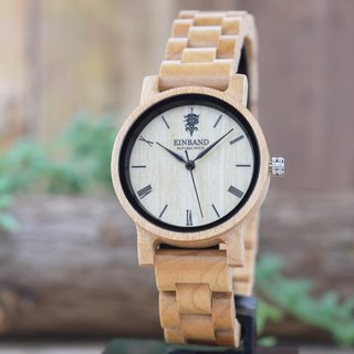 EINBAND Reise Maplewood 32mm Wooden Watch