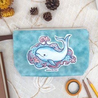 <Animals in the Secret Land> Whale coming out of a fountain of hope Clutch Bag