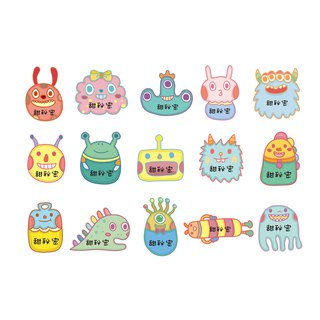 45 enter customized name stickers / monster models