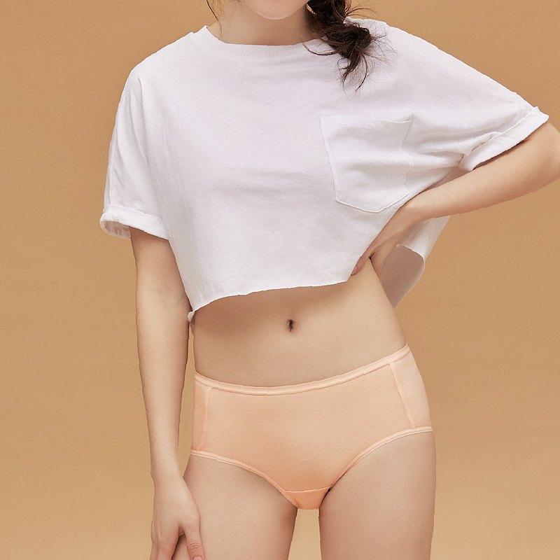 【玳蕾綺】消臭抑菌天絲棉內褲-中腰平口款式(2入) 膚色