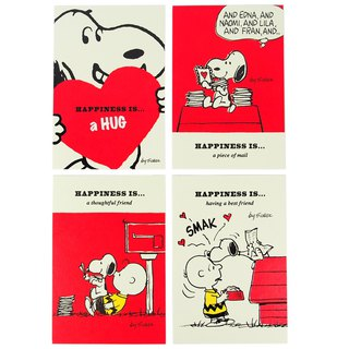 Snoopy Sweet Talks Classic Postcard Limited Collection Set 4 In [Hallmark-Postcard]