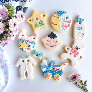 Ginseng salted sugar cookie • Linus baby hand-painted creative design gift box set of 8**Please consult the schedule before ordering**