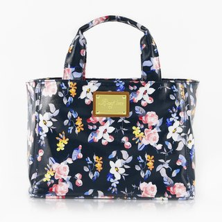 Flange Rose Waterproof Magnetic Buckle Bag - Pink Blue