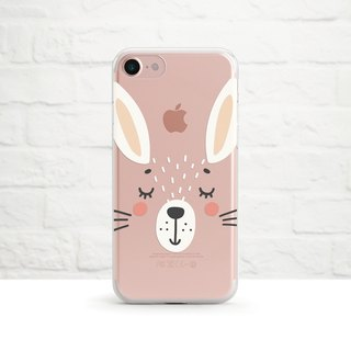 Sweet Bunny, Clear Soft Phone Case, iPhone X, iphone 8, iPhone 7, iPhone 7 plus, iPhone 6, iPhone SE, Samsung