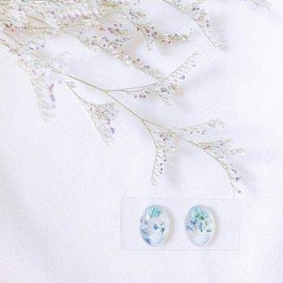 The world of mermaid princess - Seaman made dry flower earring ear clip