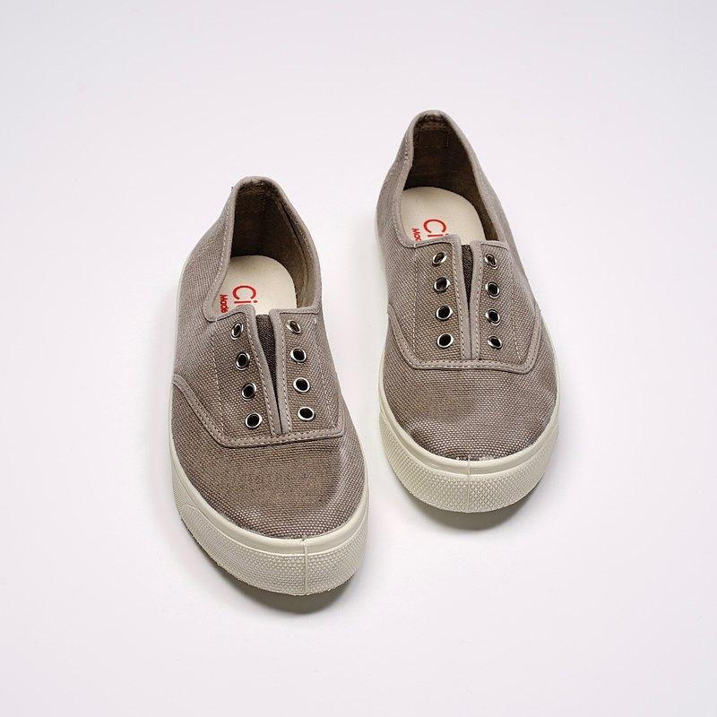 西班牙國民帆布鞋 CIENTA 10777 170 淺灰色 洗舊布料 大人