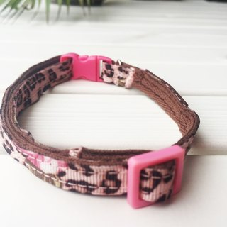 Chain hair child collar - hot rose leopard general buckle 1 section section [spot]