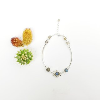 【ColorDay】 Light Lazuli Sterling Silver Bracelet / Labradouite / ラ ブ ラ ド ラ イ Suites