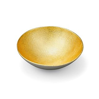 Pure tin gold foil seasoning plate (L)