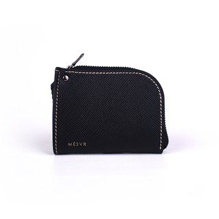 [Saffiano] | Zipper Wallet | Coin Purse Pouch