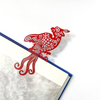 MARK TAIWAN Mackay Festival - Luan Feng Fei Ju Metal Bookmarks - Red