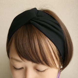 hair band plain Black -Tshirt fabric-