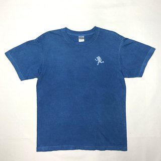 【Order Production】 Indigo dyed Aizen - TO BUILD A FIRE TEE Fire