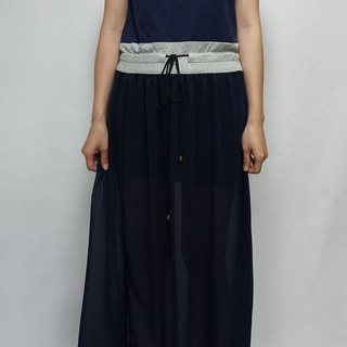 - Chicken Mother Dock - Comfortable Sports Cotton Spell-Breath Chiffon Long Dress