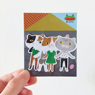 E*group House Series D Building Grey Waterproof Stickers Sticker Stickers Package