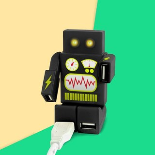 British Mustard USB HUB - Robot (Black)