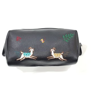Goat Cosmetic Purse (black)