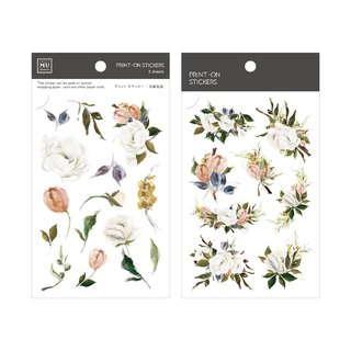 [Print-On Stickers] | Flower Series 33 - Oil Painting Rose